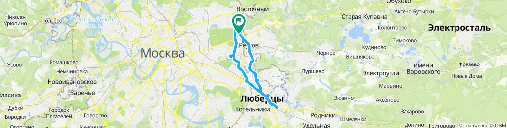 Велокурьерские поездки 08 05 2019 Измайлово, Новогиреево, Люберцы и Томилино
