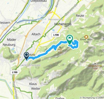Langsame Fahrt in Götzis