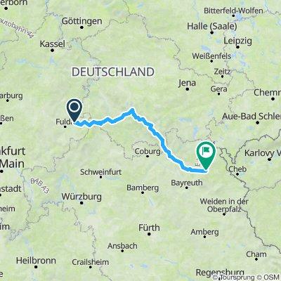 1. Etappe Rhön/Th.Wald/Fichtelgebirge