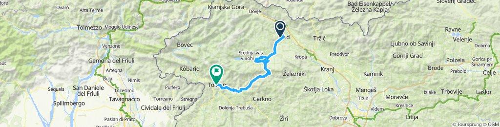 Lake Bled - Tolmin (76km, 1340m el)