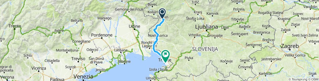 Tolmin-Trieste (90.4km, 970m el)