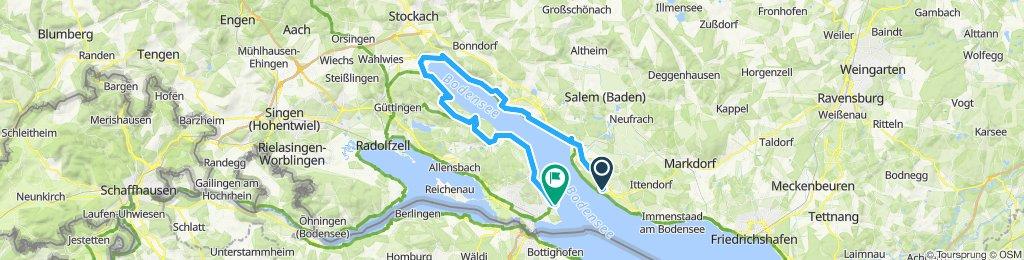 Bodensee Meersburg Konstanz 60 km