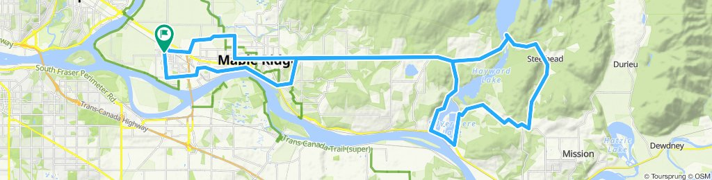 Pitt Meadows to Stave Dam and Back
