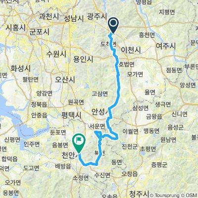 곤지암역-이티재-엽돈재-성거산-천안