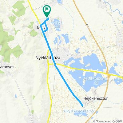 Snail-like route in Mályi