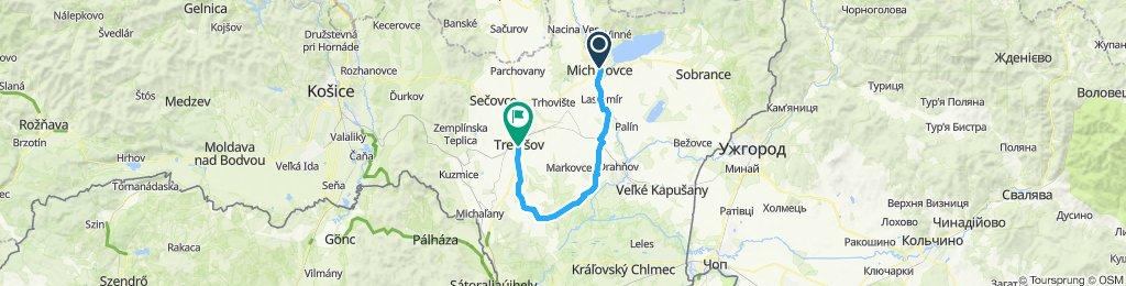 Michalovce - Budkovce - Oborín - Novosad - Trebišov
