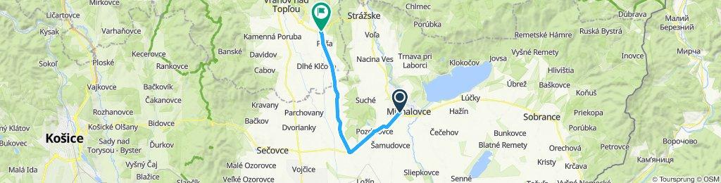 Michalovce - Trhovište - Nižný Hrabovec