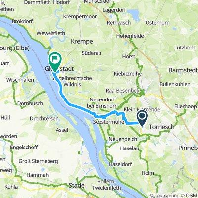 Langsame Fahrt in Glückstadt