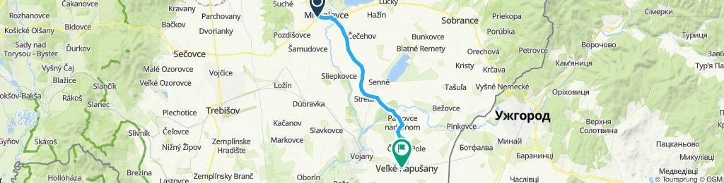 Michalovce - Palín - Stretava - Veľké Kapušany
