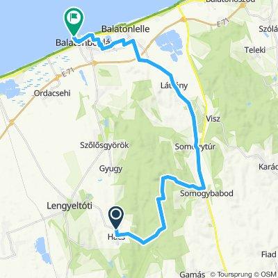 Relaxed route in Balatonboglár