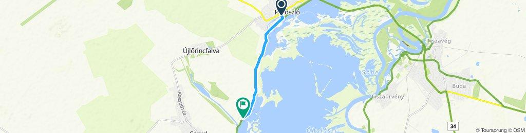 Relaxed route in Újlőrincfalva
