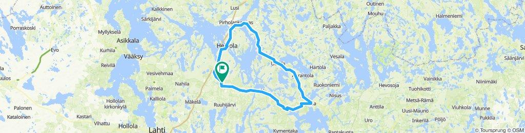 Vierumäki-Jaala-Heinola-Vierumäki