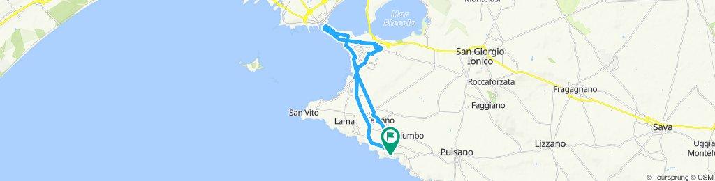 Day 8 22 May Taranto 35km ttl