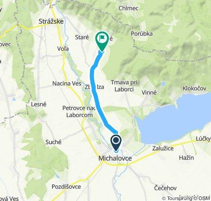 Michalovce - Zbudza - Oreské (vod. nádrž)