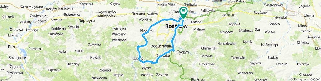 Rzeszow - Czudec (Zglobien, Niechobrz, Babica, Budziwoj)