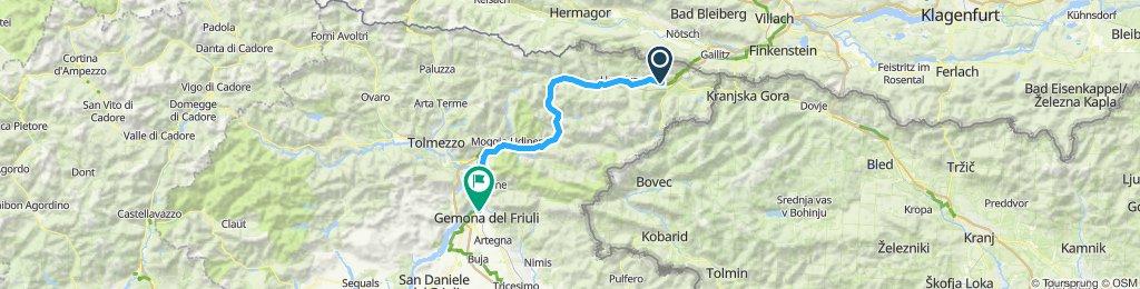 Etappe 7 Tarvisio nach Gemona