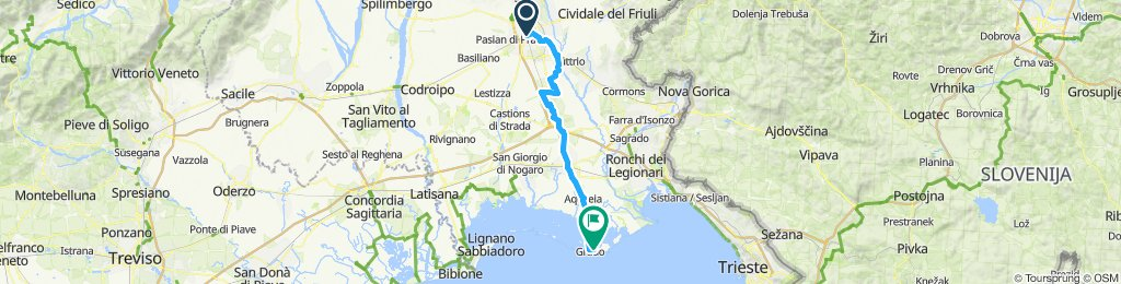 Etappe 9 Udine nach Grado