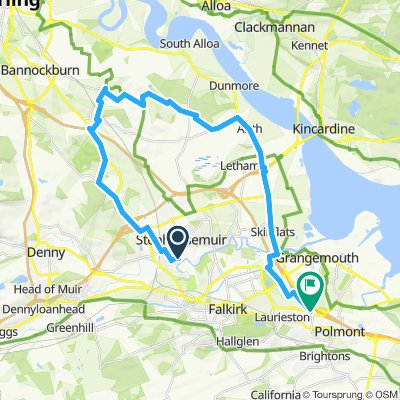 Larbert round Cowie and down to Beancross