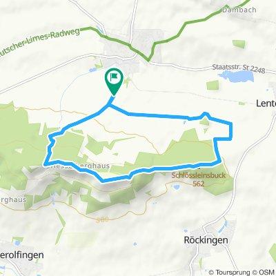 Ehingen - Hesselberg - Ehingen