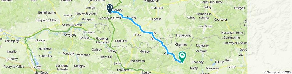 Itinéraire modéré en Maxilly-sur-Saône