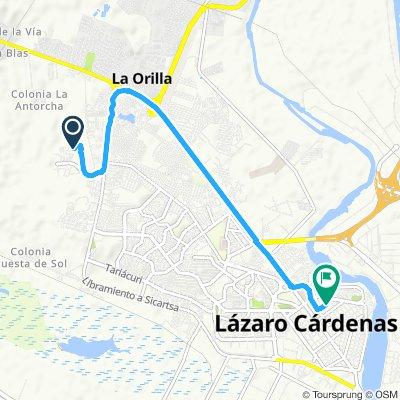 Ruta lenta en Ciudad Lázaro Cárdenas vecino