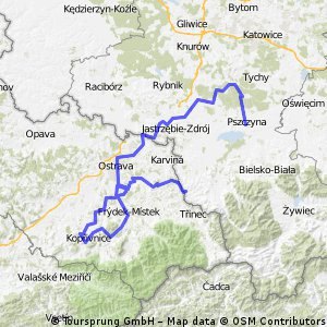 Pszczyna - Ostrava - Štramberk - Havířov - Český Těšín - Cieszyn