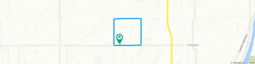 Snail-like route in Yuba City