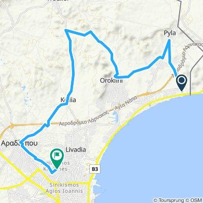 Gerade Fahrt in Larnaka