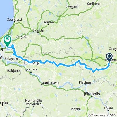 Madona - Bergi 180km
