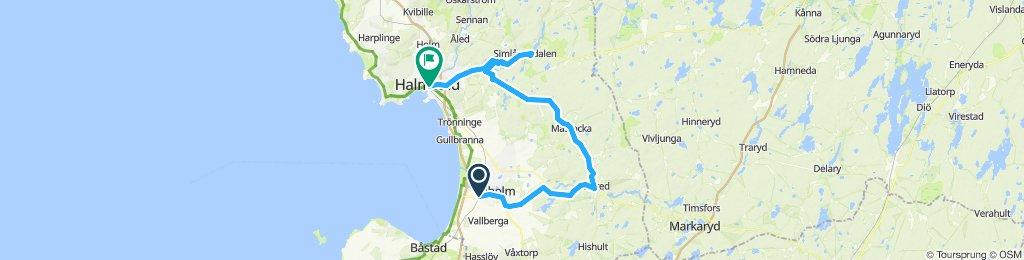 Laholm-Lagan-Simlångadalen-Halmstad