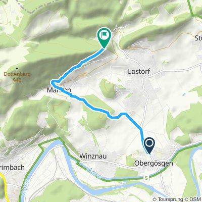 Route im Schneckentempo in Obergösgen