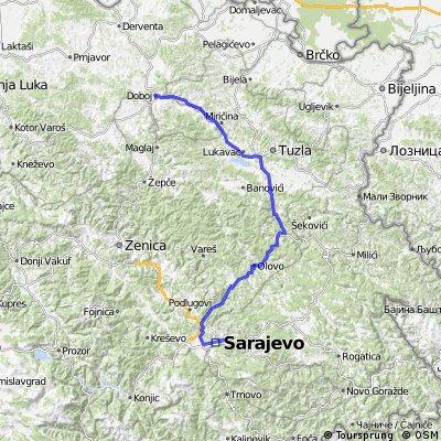 Sarajevo-Olovo-Kladanj-Zivinice-Doboj-