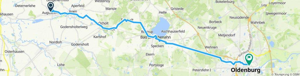 Von Augustfehn über Bad Zwischenahn nach Oldenburg