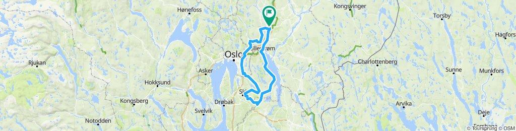 Kløfta - Ytre Enebakk - Tomter  - Ski - Oslo - Kløfta