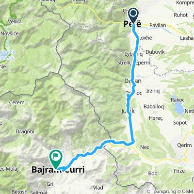 dag 5  peje Kosovo - Bajram Curr