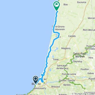 Biarritz to Contis Hotel