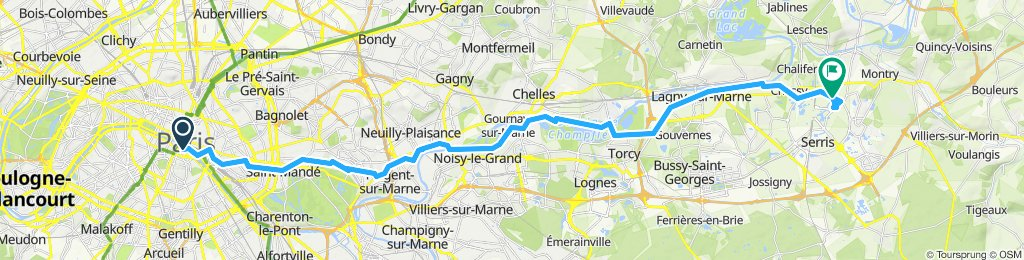 Paris - Lagny /Marne - Disneyland