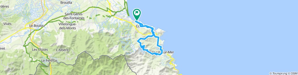 Collioure - Port Vendres - Banyuls - Madaloc | Bikemap ...