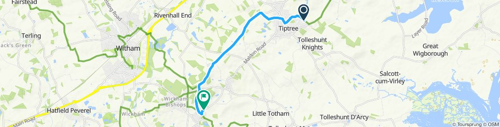 Moderate route in totham area