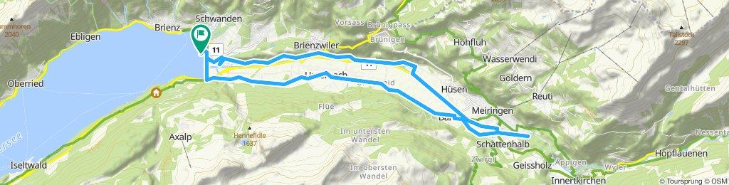 Route im Schneckentempo Aareschlucht
