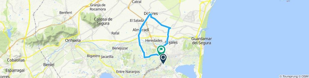 Route B via san fulgencio