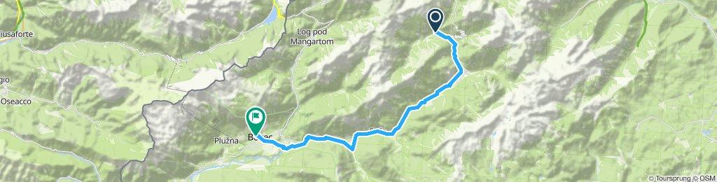 2. Etappe Soca Quelle - Bovec