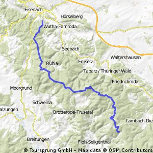 Rennsteig Tour T2 Eisenach-Nesselhof