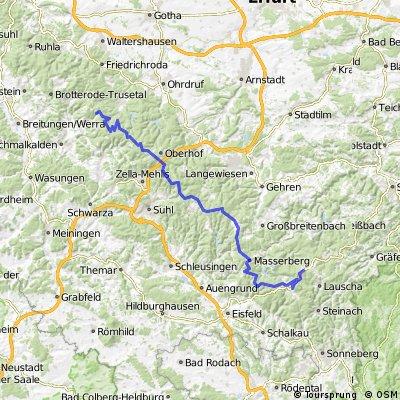 Rennsteig Tour T3 - Nesselhaof bis Neuhaus