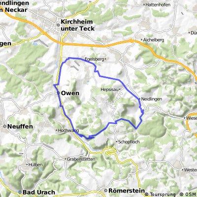 Von Nabern durch´s Lindachtal nach Neidlingen,über die Schwäbische Alb, und durchs Lenninger Tal