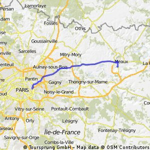 Paris to Meaux(Passed)