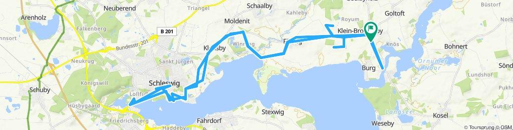 von Brodersby nach Schleswig und zurück.