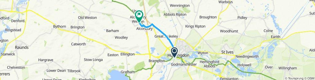 Steady ride in Huntingdon