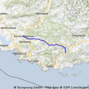 F Etappe: Aix en Provence- Pignans