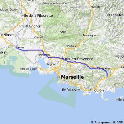 F Etappe: Arles - Pignans